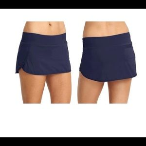 Athleta Swim Skirt Dress Blue Sz XS